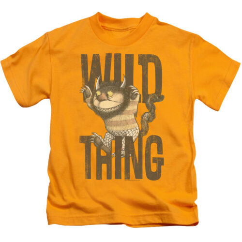 Where The Wild Things Are LIBRO Wild Cosa con licenza T-shirt kids TG 4 7 5//6