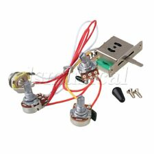 Yibuy 5-way Switch 500k Pots Knobs Wiring Harness for Guitar
