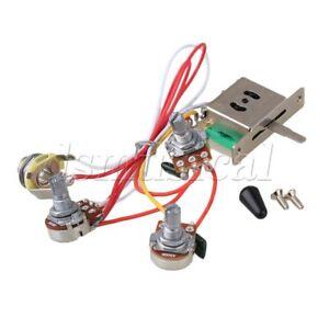 details about guitar wiring harness 1v2t 1jack 3 500k pots 5way switch  buy pro guitar wiring harness 1v2t