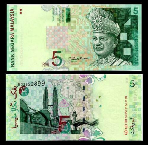 MALAYSIA 5 RINGGIT ND 2001 P 41 b ZETI AKHTAR AZIZ UNC