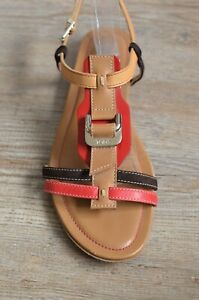 red strappy sandals uk