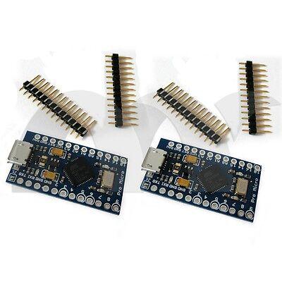 2 PCS Pro Micro Atmega 32U4-MU 5V 16MHz Board  Module For Arduino-Compatible