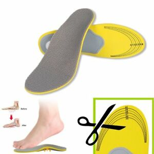 Details About Orthotic Arch Support Shoe Insoles Pads Pain Relief Flat Foot Hard Men Women Ac