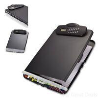 Plastic File Clipboard Storage Calculator Organizer Box Case Holder Ruler Office