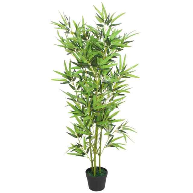 19/'/'H Faux Bamboo Realistic Artificial Plant in Pot w// Pebbles Indoor Outdoor
