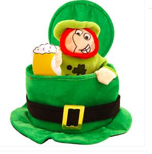 Fancy Dress St Patricks Irish Ireland Eire Top Hat Green w// Leprechaun 6//12//18+