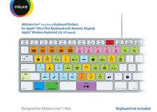 Ableton Live Keyboard Stickers (Pro Edition) | Mac | QWERTY UK, US | GLARE-FREE!
