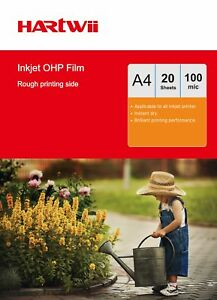 A4 Overhead Projector OHP Film For Inkjet Ink  Clear A4 with Strip - 20 Sheet AU 867000570564