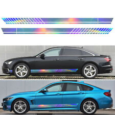 Decal Sticker Vinyl Graphic Side Long Stripe For Car Auto Racing 2Pcs 220*12CM