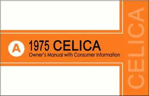 1975 toyota celica owners manual user guide reference operator book rh ebay co uk User Guide Icon Instruction Manual