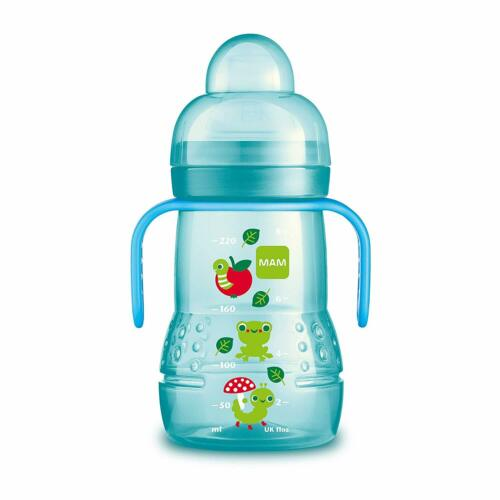1-Count Boy Trainer Cups For Babies With Handles Mam Trainer Cup 8 Ounces