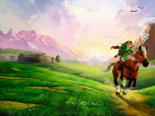 """012 The Legend of Zelda 25th Anniversary Ocarina of Time Game 18/""""x14/"""" Poster"""