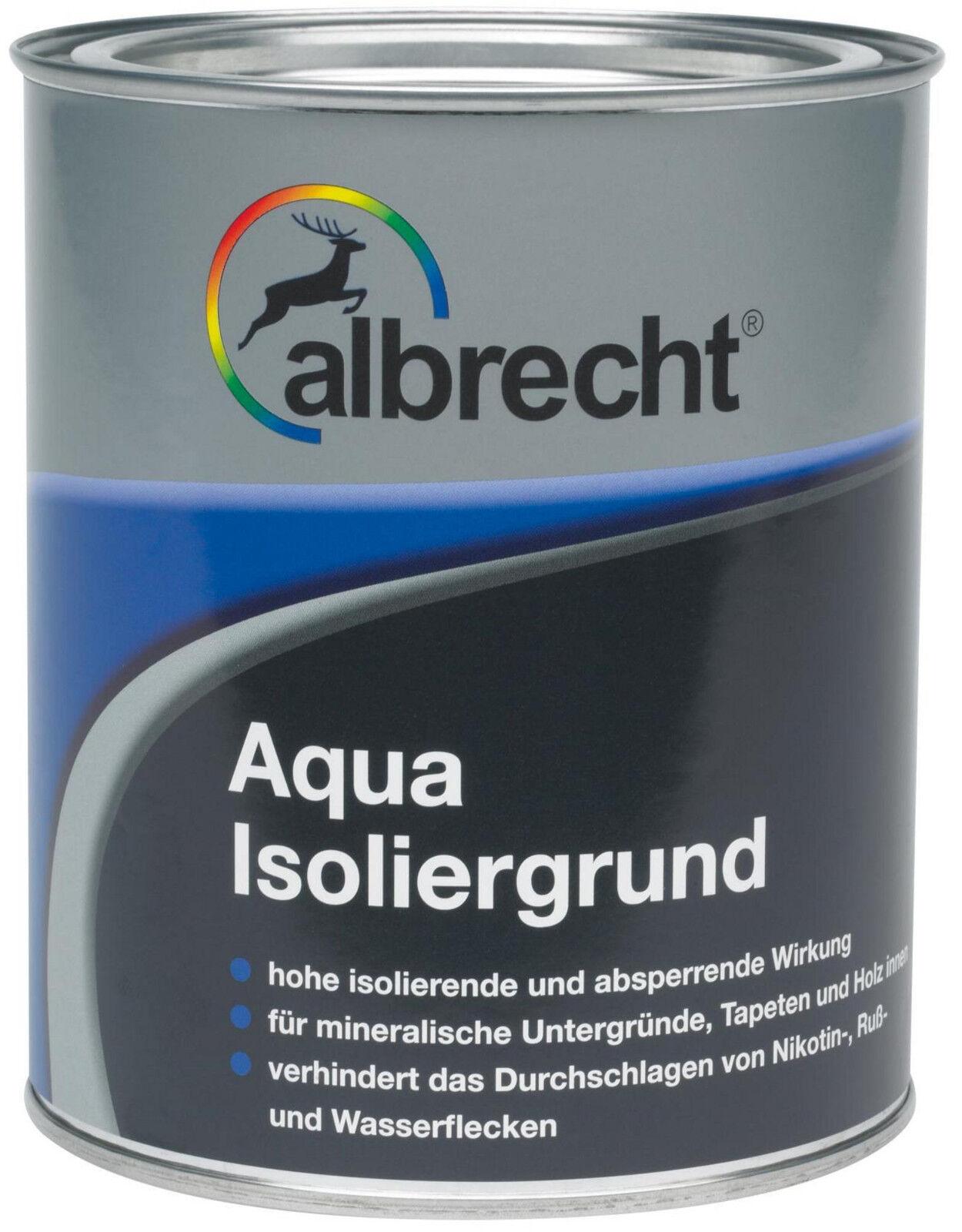 Albrecht Aqua-Isoliergrund Grundierung für innen matt weiß 2,5 L NEU