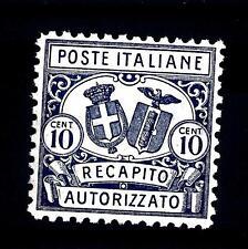 ITALIA - Regno - Rec. autor. - 1928 - Stemma in ovale Ce timbre devait etre