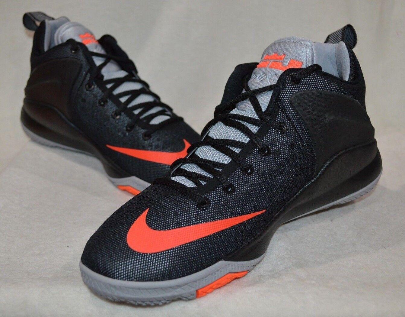 Nike LeBron Zoom Witness Black Crimson Grey Men's Basketball shoes-Asst Size NWB