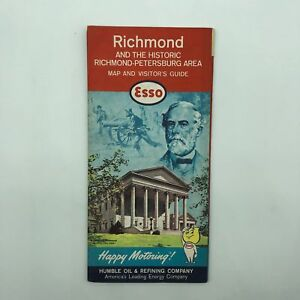 Richmond-Petersburg-Area-Esso-Map-and-Visitor-039-s-Guide-Map-1960