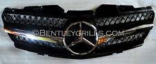 Mercedes Benz SL Front Grille R230 Obsidian Black / Chrome 2002-2006