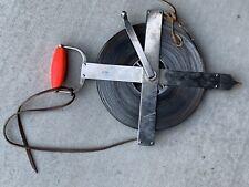 Land Surveyors Lufkin 300 X 516 Steel Hi Way Tape Measure Drag Chain Reel