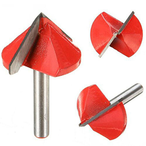 Double-edged Router Engraving Bit Cutter Tool 6mm x 32mm 90 Degree 3D V Groove