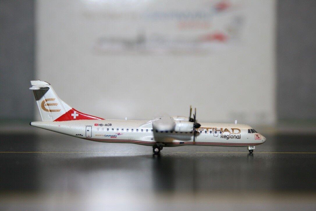 JC Wings 1:400 Etihad Aerospatiale ATR-72 HB-ACB  XX4362  Die-Cast Model Plane