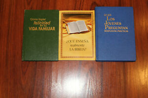 Watchtower SPANISH YOUNG PEOPLE ASK, FAMILY LIFE, TEACH 3 OOP Bks 1st Ed Jehovah