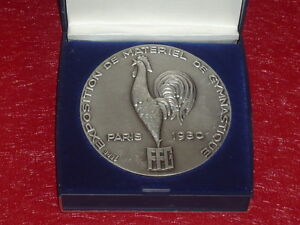 Coll-J-DOMARD-SPORT-ARGENT-1rst-EXPO-GYMNASTIQUE-PARIS-1980-F-I-G-Coq-Rooster