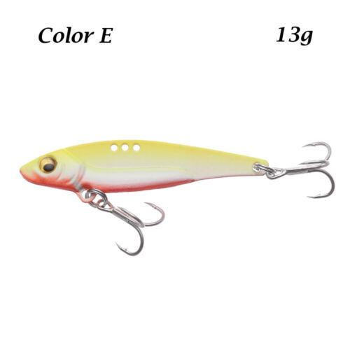 Hook 3D Eye Jig Metal Slice Fishing Metal VIB Lures Lead Casting Spoon Lure