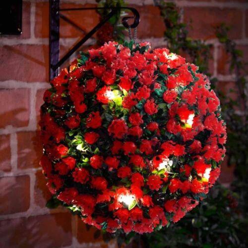 Blanc 20 DEL Energie Solaire 27 cm cm jardin Ball Hanging Fleur Patio Lights