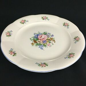 VTG-Round-Serving-Chop-Plate-Platter-Tabletops-Unlimited-Victoria-Floral-Bouquet