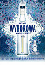 PUBLICITE ADVERTISING 054  2007   WODKA  WYBOROWA  vodka