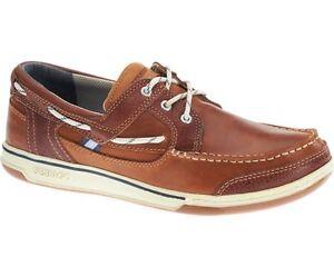 Sebago-Triton-Three-eye-Pont-Chaussures-Bateau-Homme-B81060-Tan-Marron-Cognac-Neuf