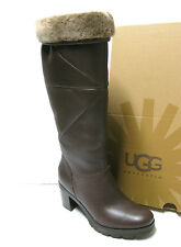 8486c4a9ce1 UGG Jessia Stout Leather Sheepskin Tall Womens BOOTS Size US 6/uk ...