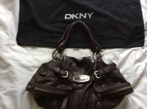 Dark Brown New Leather Shoulder Karan York Donna Soft Dkny Bag c3q5jLR4A