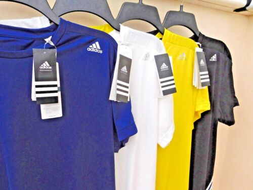 adidas MENS BASE MID T SHIRT with DRYDYE /& CLIMALITE 5 sizes 4 colours BNWT