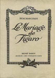 Détails sur BEAUMARCHAIS  LE MARIAGE DE FIGARO PAR MONTASSIER