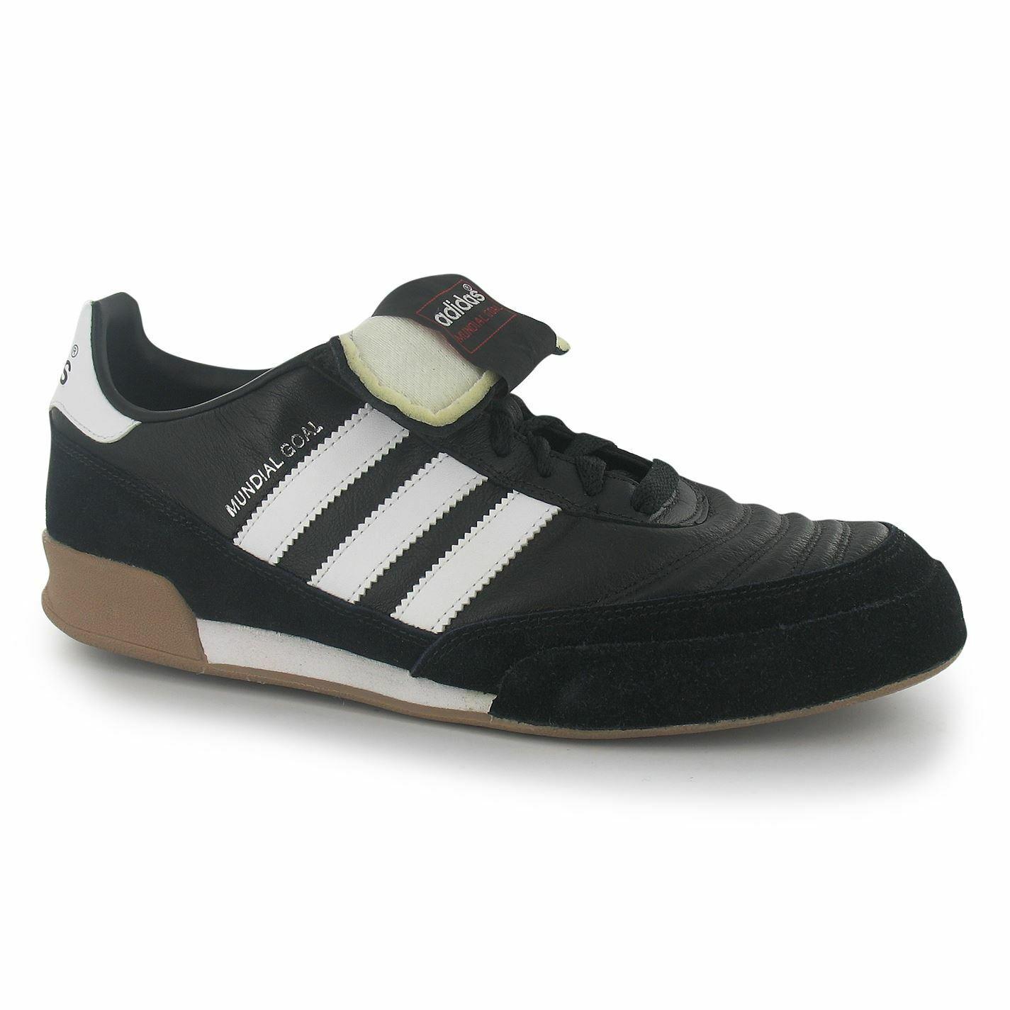 Adidas Mundial Goal Interior fútbol futsal entrenadores para hombre Negro blancoo Zapatillas De Fútbol