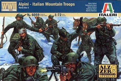 Italeri 1//72nd Plastic WWII Italian Mountain Alpine Troops Set 6059 NEW!