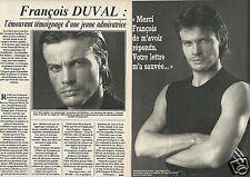 Coupure de presse Clipping 1984 François Duval  (2 pages)