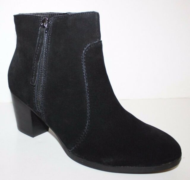 GH Bass NIB Women 6 9 Maxine Black Suede Leather Ankle Boots