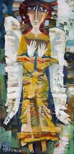 "Angel of Light / Original Oil Painting by Sergej Hahonin / 25x12cm / 9.8"" x 4.7"""