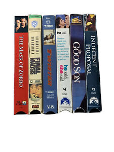 VHS-Lot-Of-6-MIXED-Rare-Action-Romance-Movies