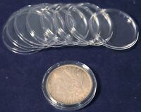 10 Direct Fit Guardhouse Coin Capsule Holders For Peace Morgan Ike Silver Dollar