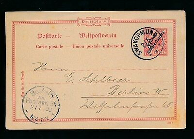 German South West Africa 1900 Stationery Card 10pf Vfu Swakopmund