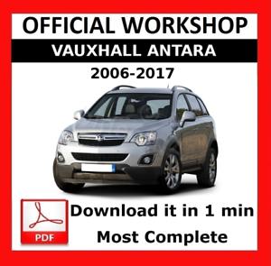 official workshop manual service repair vauxhall antara 2006 2017