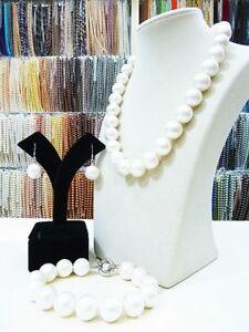 14mm-Round-South-Sea-Shell-Pearl-Necklace-Bracelet-Earring-Women-Jewelry-Set