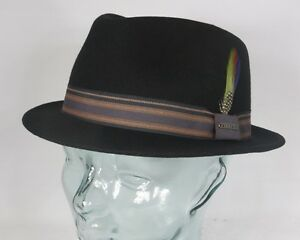 Stetson Trilby Hat Oviedo Men s Hat Wool Hat Small Hats Black Wool ... 150cbad9a052