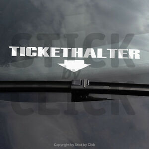 tickethalter sticker dub strafzettel auto aufkleber jdm shocker polizei haters ebay. Black Bedroom Furniture Sets. Home Design Ideas