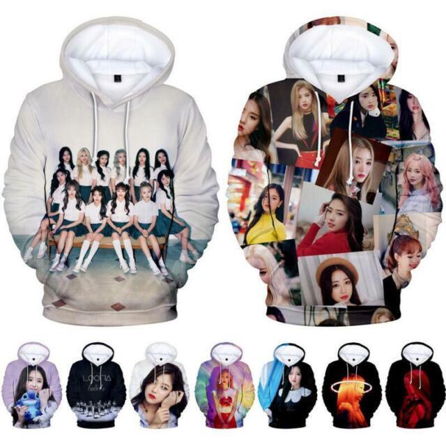 Kpop LOONA HeeJin Hyun Jin Soul HaSeul Chuu 3D Hoodie Sweater Sweatshirt Jumper