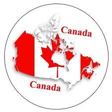 CANADA MAP / FLAG - ROUND SOUVENIR FRIDGE MAGNET - NEW - GIFT