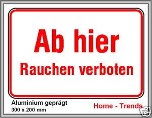 WohltäTig Rauchverbot-schild-schilder-warnschild-türschild-30x20c Hunde